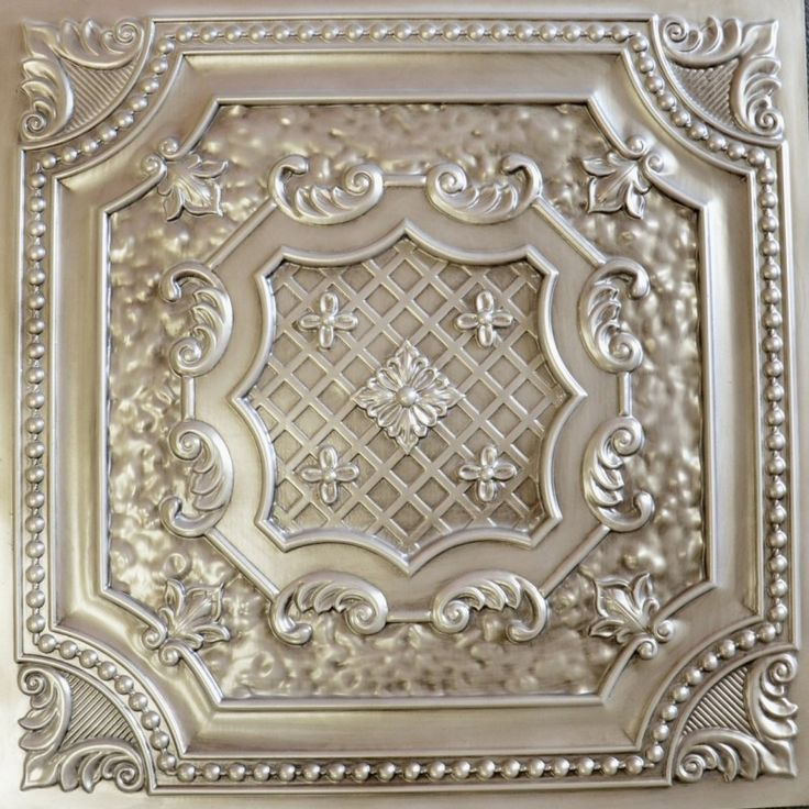 faux tin ceiling tile antique white