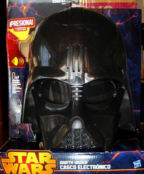 """Máscara de Darth Vader electrónica. Tiene un modulador de voz que te permite hablar con la voz de Darth Vader. Ahora sí podrás decir: """"¡yo soy tu padre!""""."""