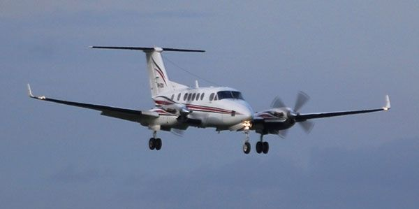 Super King Air - flying in luxury corporate aircraft.