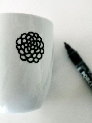 Painted mugs #DIY #gift