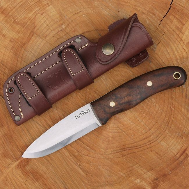 The TBS TimberWolf Bushcraft Knife is handmade in Sheffield exclusively for The Bushcraft Store