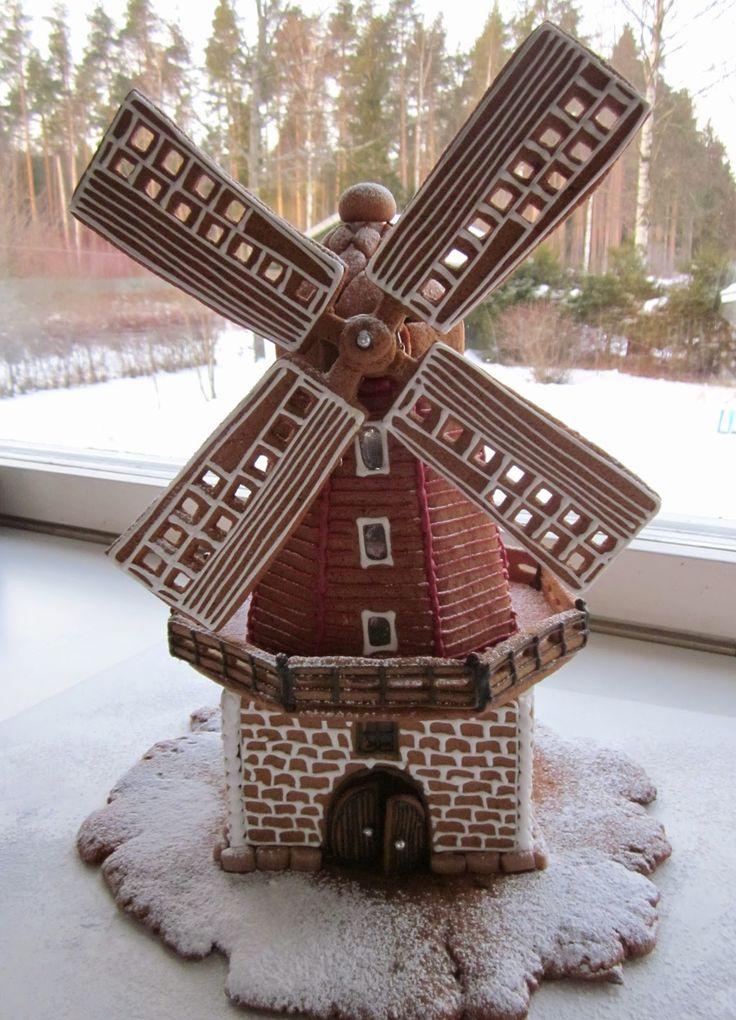 Gingerbread windmill.