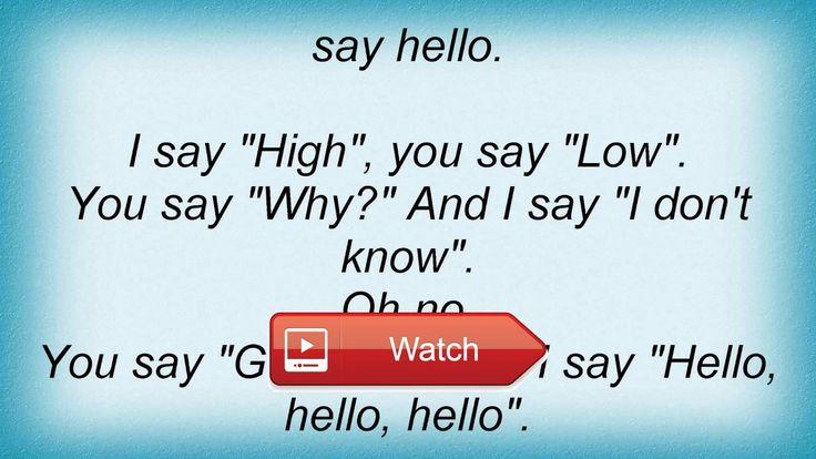Beatles Hello Goodbye Lyrics  Beatles Hello Goodbye Lyrics
