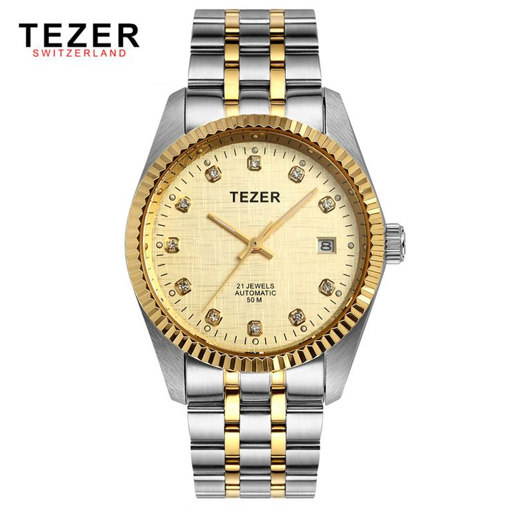 Aliexpress.com : Buy Tezer Automatic Mechanical Watches Self Wind Stainless Steel Men's Business Dress Watches Golden Face Watch Men Relogio Box New from Reliable steel safety box suppliers on Bin Professional Wristwatches Store