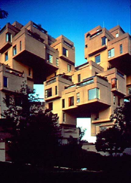 Habitat 67, Montreal, Quebec, Canada.  I lived here during Expo '67