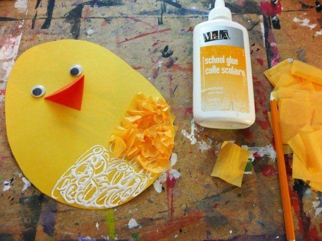 activités pour enfants de 4 à 6 ans: des poussins en papier