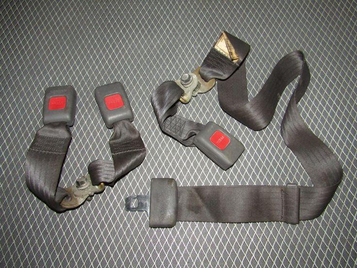 92-96 Toyota Camry Sedan OEM Rear Seat Belt Buckle - Set