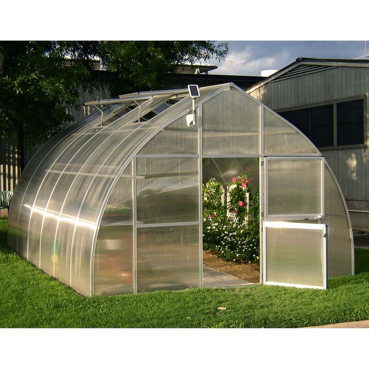 Hoklartherm RIGA XL 14.1 x 19.8-Foot Greenhouse - Additional Features4 large roof windows provide ample ventilationIncludes 4 automatic roof window openersConstructed with 16 MM twin wall polycarbonat...
