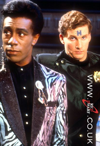 Cat and Rimmer, Red Dwarf.