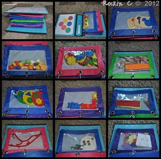 Activity Bag Notebook ... Possible idea for classroom game storage @Kristin Vercammen