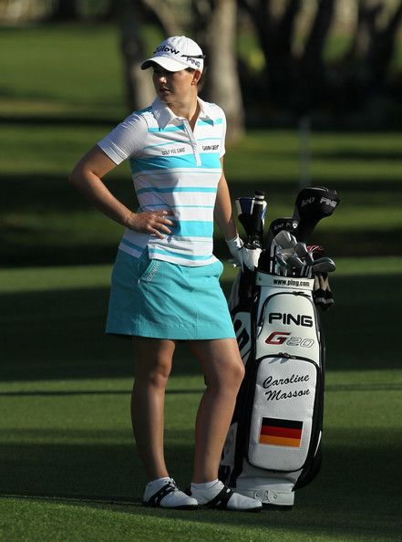 Caroline Masson Photos Photos - Caroline Masson of Germany stands by her bag the sixth hole during the third round of the Kraft Nabisco Championship at Mission Hills Country Club on March 31, 2012 in Rancho Mirage, California. - Kraft Nabisco Championship - Round Three