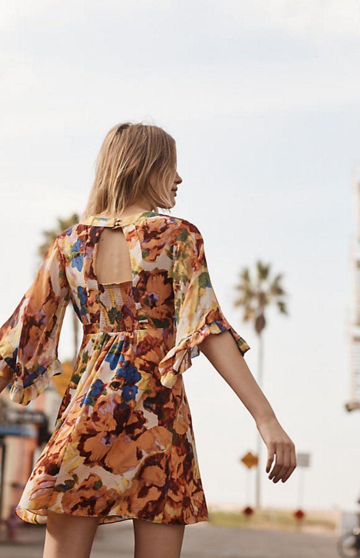 Deloria Printed Silk Dress | Anthropologie