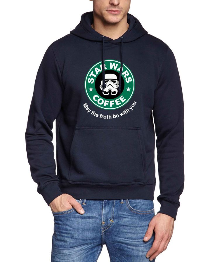 funny star war & coffee long sleeve sweatshirts men 2017 autumn winter fleece harajuku hoodies male hipster brand tracksuits pp #Affiliate