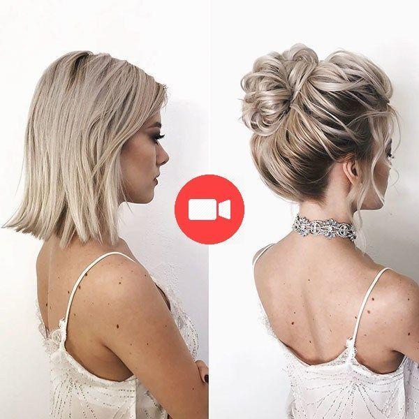 Coiffures Pour Cheveux Courts Coiffures Pour Cheveux Courts 2019 C Allison Astuces Pour Elle All Short Wedding Hair Hair Styles Short Hair Updo