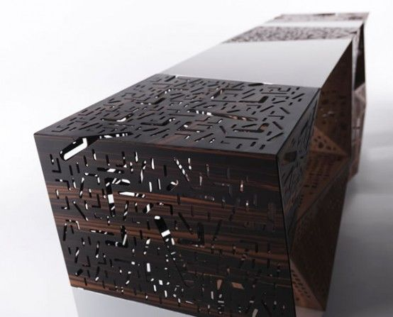 Attractive Riddled Buffet Designed By Horm: breathtaking riddled buffet made from wood designed by Horm