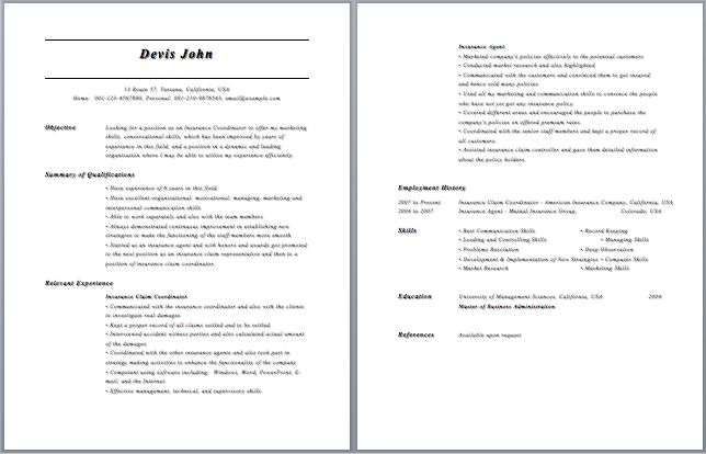 insurance specialist resume job duties health samples agent examples