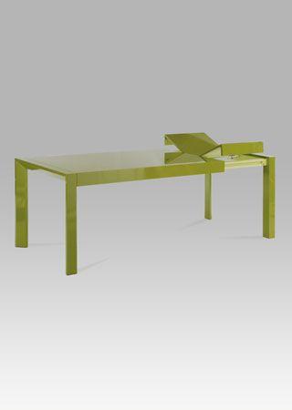 WD-5829 GRN Jídelní rozkládací stůl 160-210x90x75cm