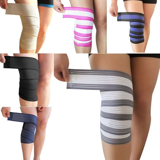 Hot Sell 1pcs 120 7 5cm Powerlifting Elastic Bandage Leg
