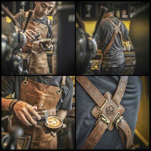 Apron Barista Full Leather