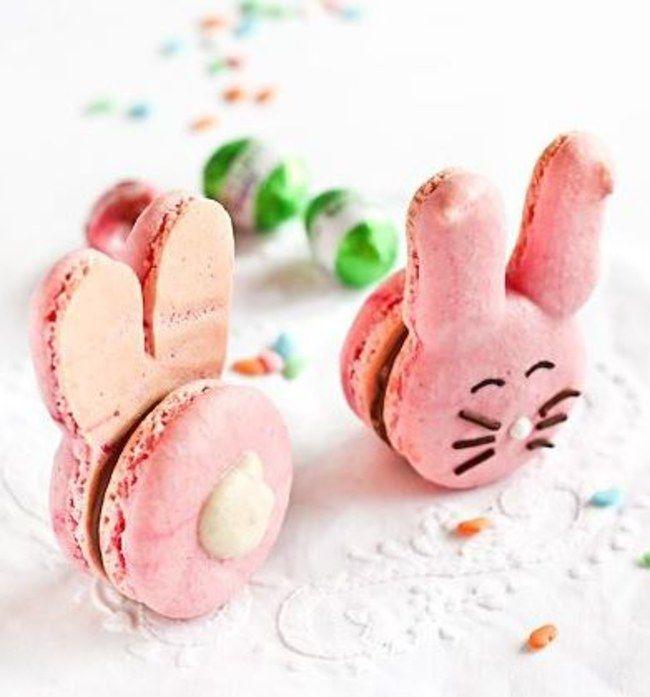 Les macarons lapins de Pâques