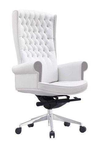 whiteline napoleon executive high back office chair