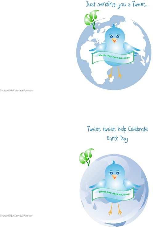 Tweet Celebrate Earth Day Cards