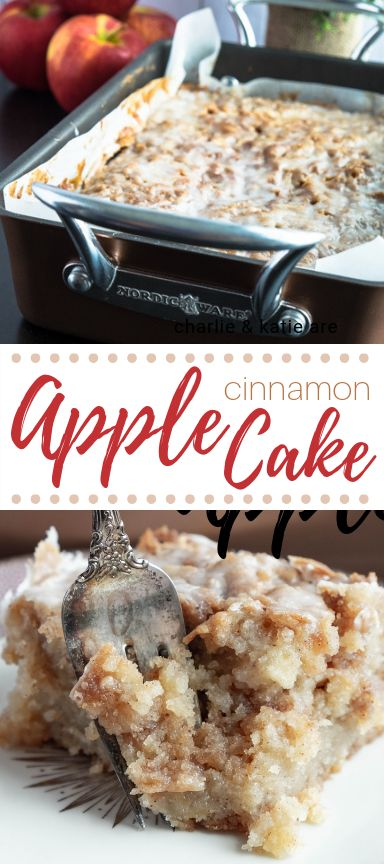 #ad Apple Cinnamon Cake is moist, fluffy, filled with sweet tender fresh apples, a crunchy cinnamon sugar topping and sweet vanilla glaze. Easy to make. #appleweek #nordicware #rodelle via @girlabroad
