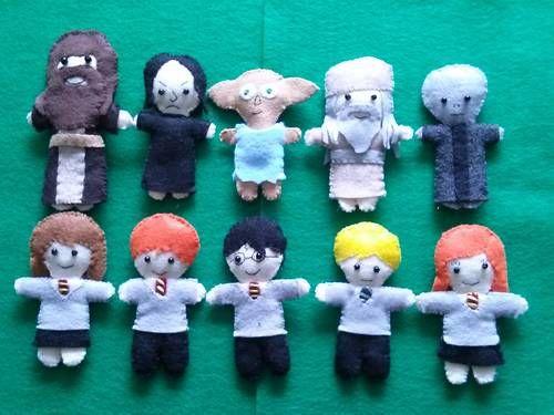 Harry Potter Felt Mini Dolls by Alliemac
