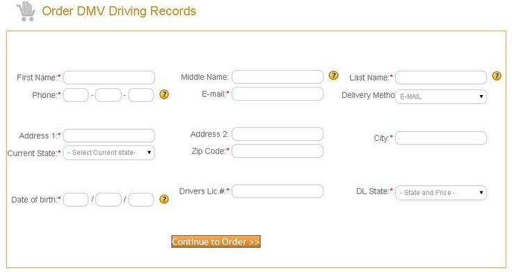 how to get driving record online