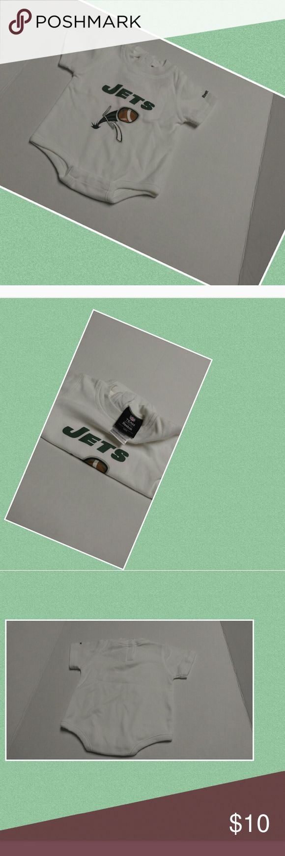 0-3months Jets onesie_Reebok kids apparel 0-3months Jets onesie_Reebok kids apparel; used in good condition Reebok One Pieces Bodysuits