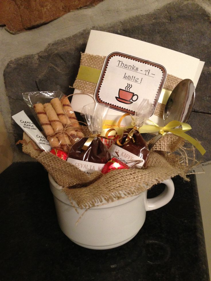 Quot Thanks A Latte Quot Thank You Gift For Teachers School
