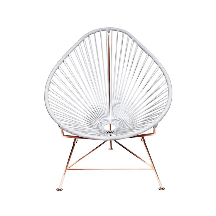 Innit Designs Acapulco Chair White and Copper