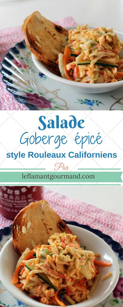 Salade de goberge épicé – Le Flamant Gourmand