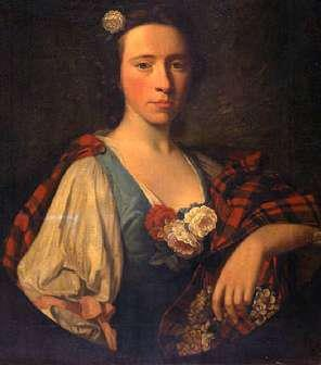 Flora MacDonald, the Jacobite heroine. Flora is famous for helping Bonnie Prince Charlie escape from Scotland after the defeat at the Battle of Culloden, disguising him as her maid, Betty Burke. She died in Kingsburgh, Skye, in the same bed in which Bonnie Prince Charlie had slept during his escape. Her funeral was said to have been attended by over three thousand mourners, and three hundred gallons of whisky were drunk at it.