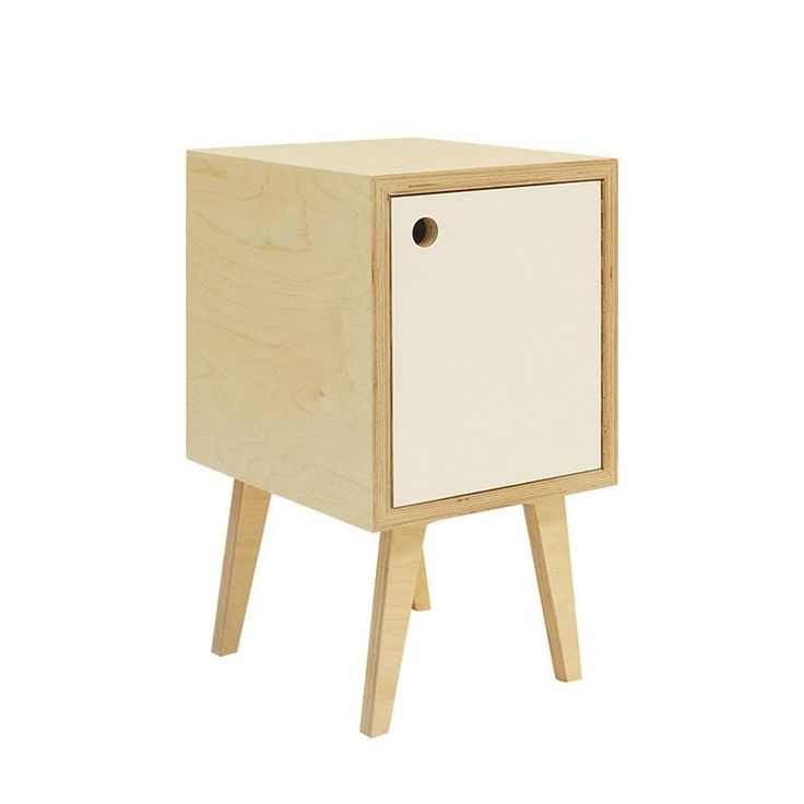 This bedside table adds interest as well as practicality to any sized bedroom with its modern take on a retro piece while still having a minimalist feel.