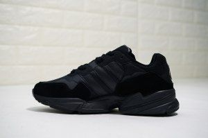 96be470d0f44b Mens Womens adidas Originals YUNG WORLD-96 Triple Black F35019 Running Shoes