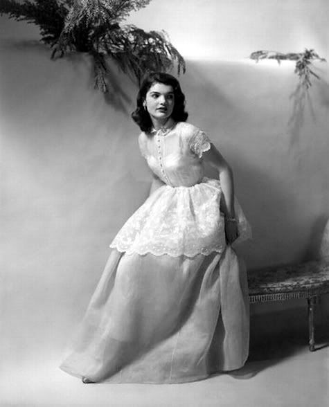 Jackie Bouvier, as a Debutante. Most folks forget she grew up in