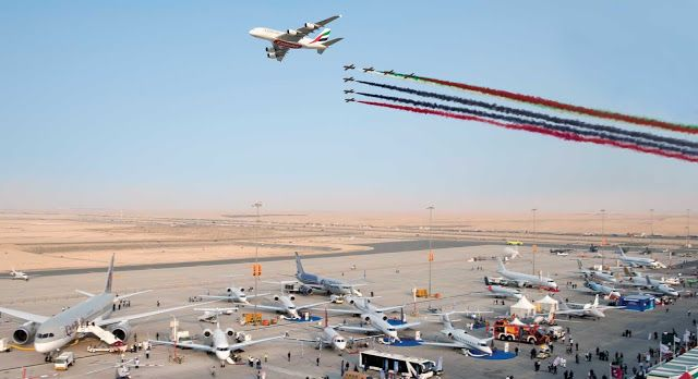 Emirates Airbus A380-800 Being Chased By Al Furan Jet Team