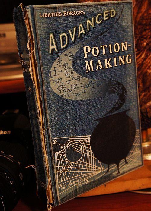 Harry Potter + Old Books = Terrific: Vintage Books, Books Covers, Halloween Decor, Prince Harry, Make Books, Potions Books, Advanced Potions, Harry Potter, Happy Halloween