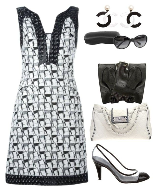 """""""Chanel #1"""" by lanebuleusedepersephoneia on Polyvore featuring Chanel, contest and blackandwhite"""