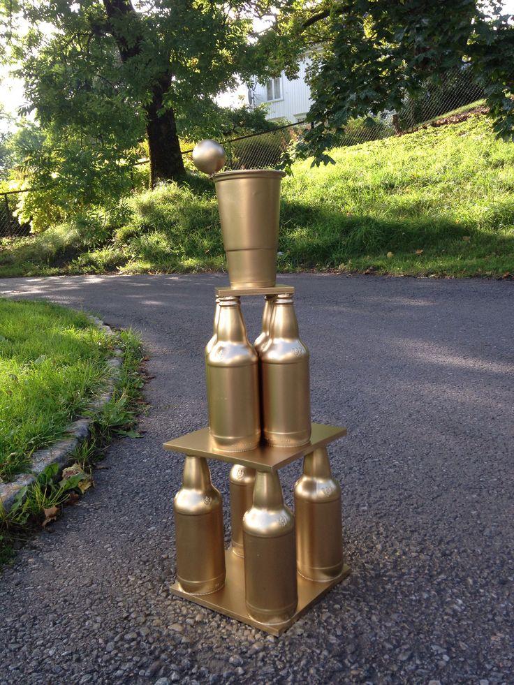 Beer pong trophy