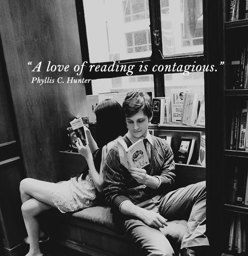 A love of reading is contagious #quote