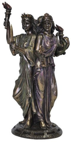 Hekate Hecate Goddess Veronese Bronze Figurine Statue