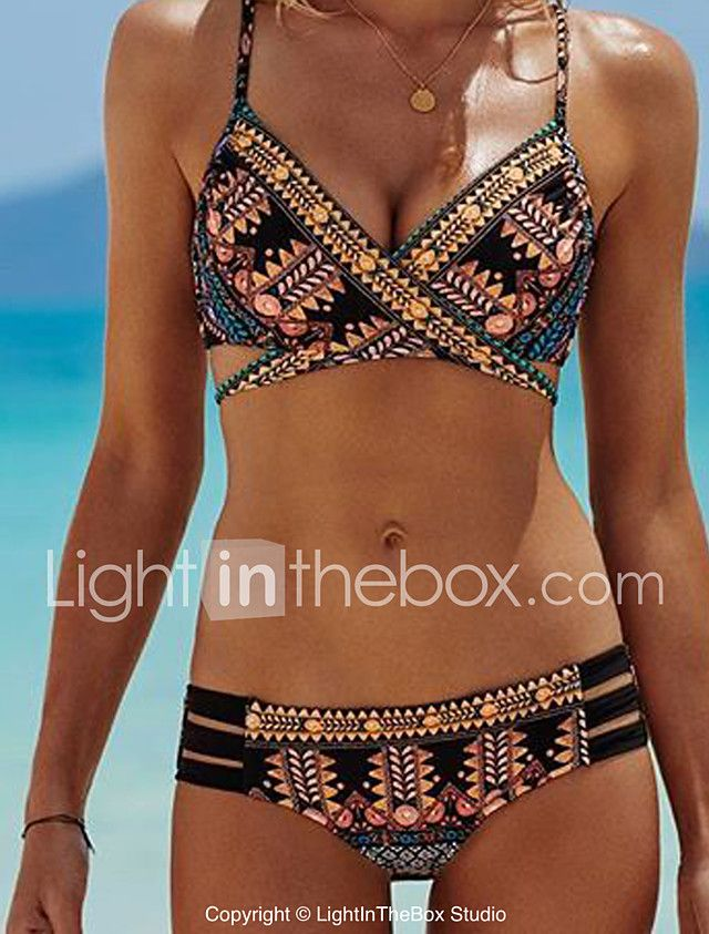 De las mujeres Bikini-FloralBandeau-Poliéster 2017 - $6634