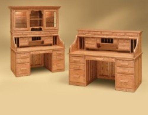 amish handcrafted rolltop desk