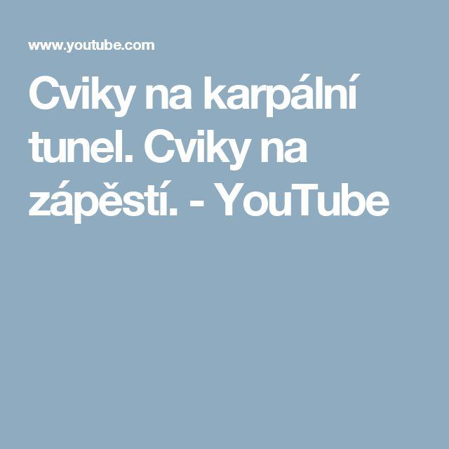 Cviky na karpální tunel. Cviky na zápěstí. - YouTube