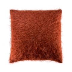 Rust Kid Mohair Cushion Cover