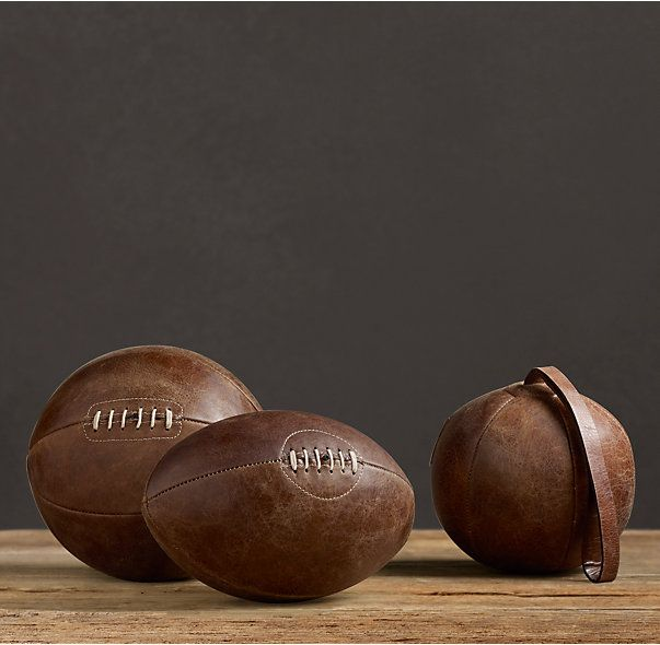 Vintage Leather Sports Ball Collection