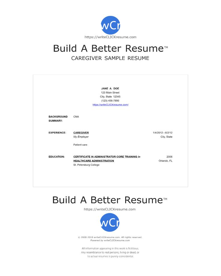 Resume Samples For Caregiver Want A Job As A Babysitter Create A - resume samples for caregiver