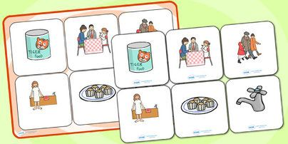 The Tiger Who Came To Tea Matching Cards and Board - the tiger who came for tea, the tiger who came for tea picture matching activity, sen picture matching